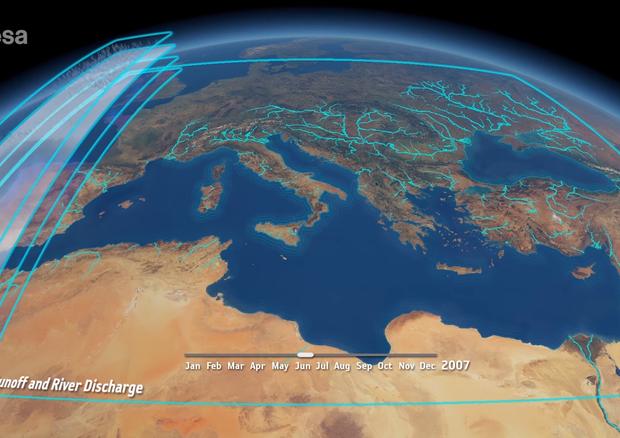 I satelliti fotografano il ciclo dell'acqua sul Mediterraneo