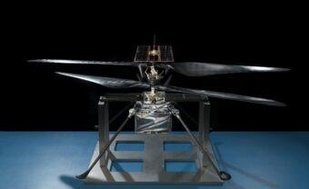 Elicottero marziano pronto per la stiva