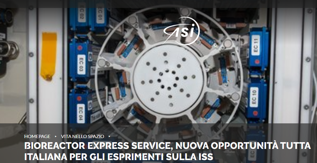 Annunciata una partnership tra l'ESA e la Kayser Italia per avviare il servizio