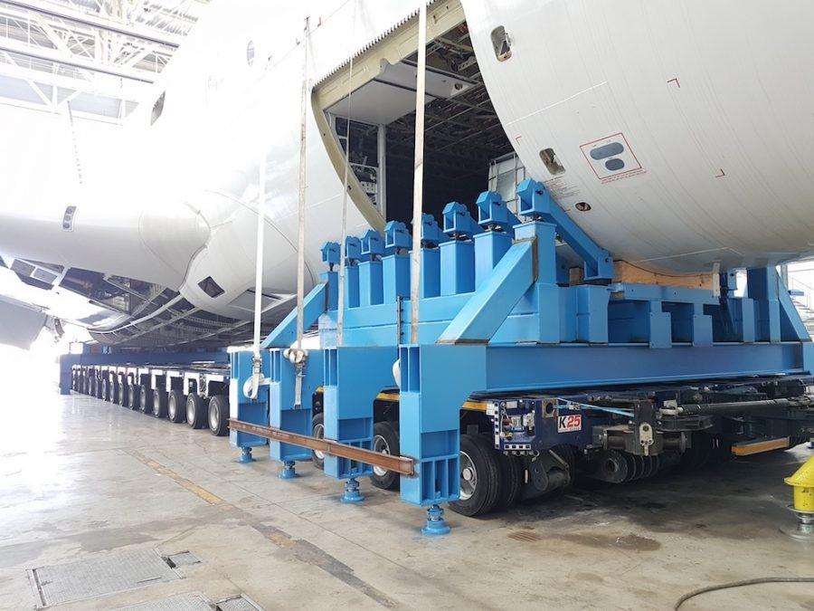 Smantellato il primo Airbus A380