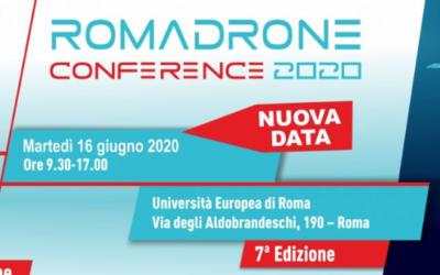 """Coronavirus, """"Roma Drone Conference 2020"""" rinviata al 16 giugno"""