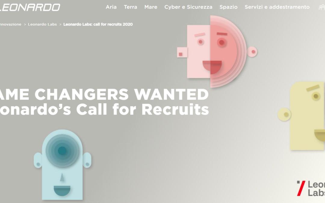 Bando internazionale per l'assunzione di 68 ricercatori per i nuovi Leonardo Labs
