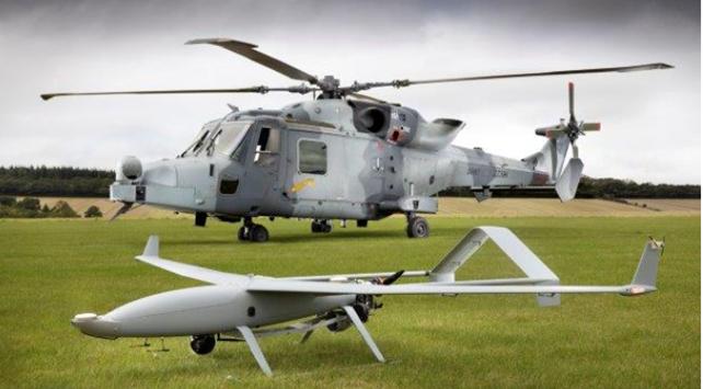 Leonardo testa l'integrazione operativa tra un elicottero AW159 e un UAV