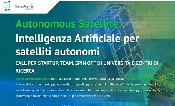 Autonomous Satellite: intelligenza artificiale per satelliti autonomi