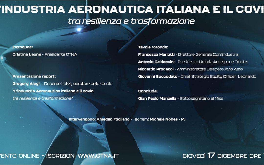 L'industria aeronautica italiana e il covid tra resilienza e trasformazione