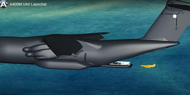 """FCAS: Airbus prosegue nello sviluppo del velivolo senza pilota tipo """"Remote Carriers"""" lanciabile dall'A400M"""