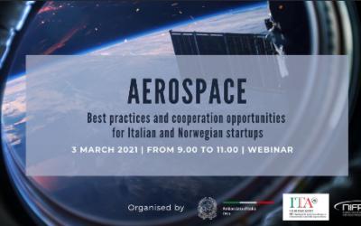 """Aerospazio: webinar """"Buone pratiche e opportunità di cooperazione per startup norvegesi e italiane"""""""