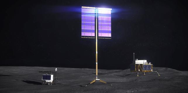NASA finanzia 5 aziende per progettare pannelli solari verticali per la Luna