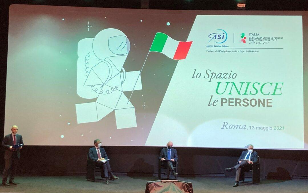 L'AGENZIA EXPO 2020 DUBAI: PRESENTATO IL PROTOCOLLO D'INTESA TRA IL PADIGLIONE ITALIA E L'AGENZIA SPAZIALE ITALIANA