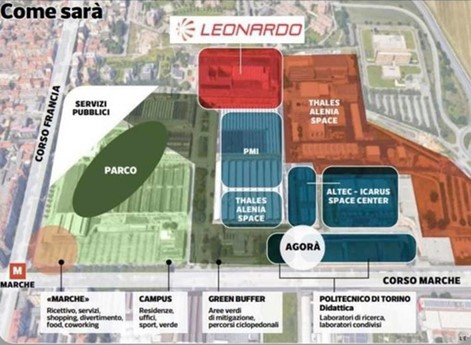 Cittadella dell'Aerospazio di corso Marche, il piano firmato Leonardo-Politecnico: entro il 2023 i laboratori di ricerca