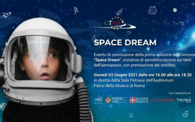 Space Dream : forte adesione di studenti e insegnanti al tema dello Spazio e della Luna, il sogno, la visione ed il futuro.