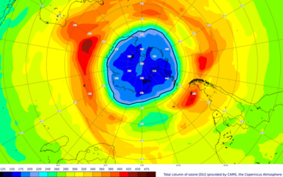 Monitoraggio satellitare per lo strato di ozono